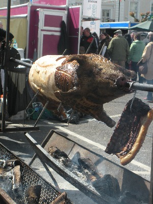 Pig on a spit at the Waterford Food Festival in Dungarvan