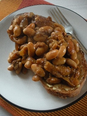 Homebaked beans on sourdough toast