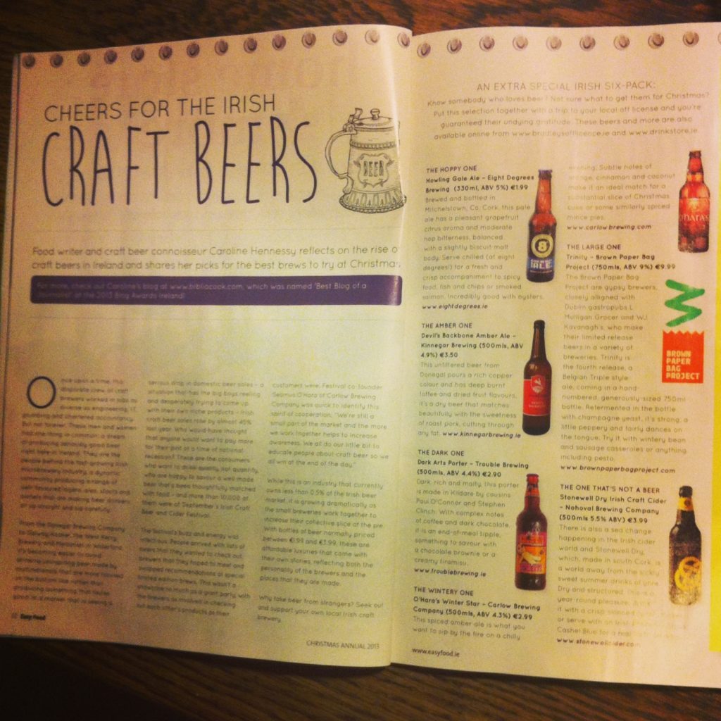 Easy Food Christmas Annual 2013 - Cheers for the Irish craft beers