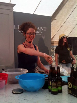 Caroline Hennesy Eight Degrees Brewing demo at Electric Picnic 2012
