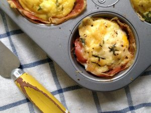 Bibliocook.com - Baked eggs and ham