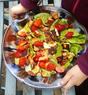 Bibliocook.com - strawberry and halloumi salad1