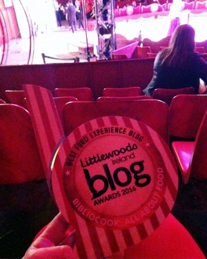 Bibliocook.com: Littlewoods Ireland Best Food Experience Blog Award 2016