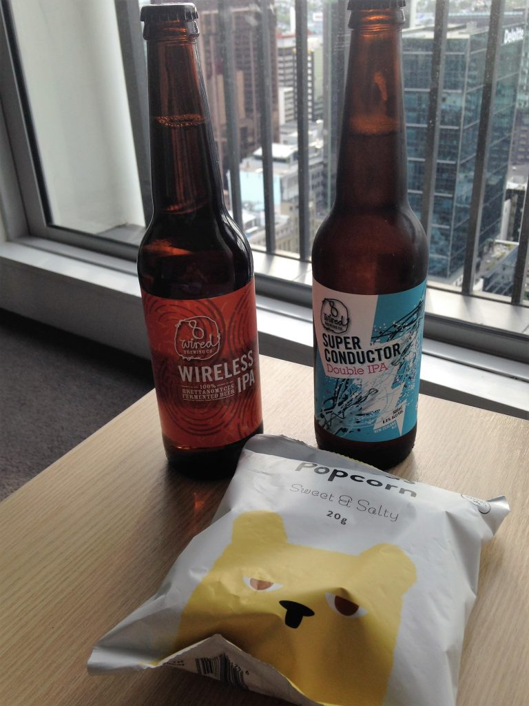 Bibliocook.com - NZ beer from 8 Wired with a view in Auckland