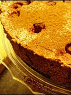 Chocolate and Raspberry Cheesecake, with plenty of cracks!