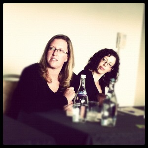 Kristin and I at the Savour Kilkenny Foodcamp, talking about the Irish Food Bloggers Association, courtesy of Babaduck