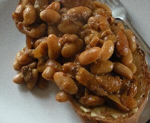 Homebaked beans on sourdough toast