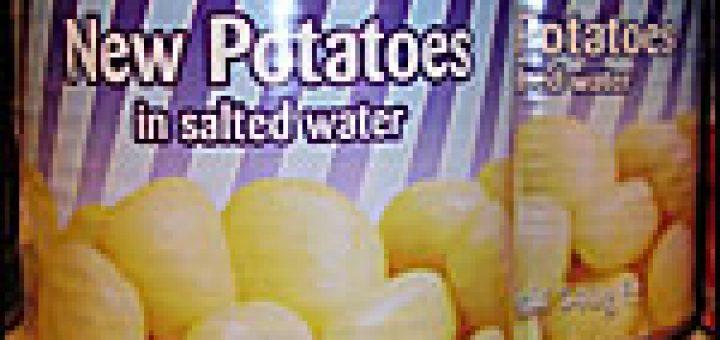 Tinned potatoes