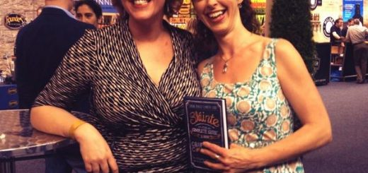 Kristin Jensen and Caroline Hennessy at the launch of Sláinte - The Complete Guide to Irish Craft Beer and Cider