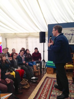 Savour Kilkenny - beer vs wine smackdown with Colm McCann and Caroline Hennessy