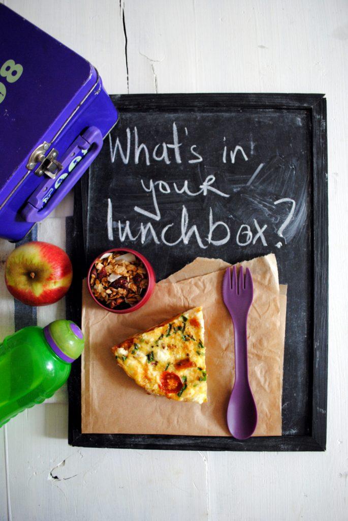 Bibliocook.com - Pumpkin and feta tortilla - lunchbox food