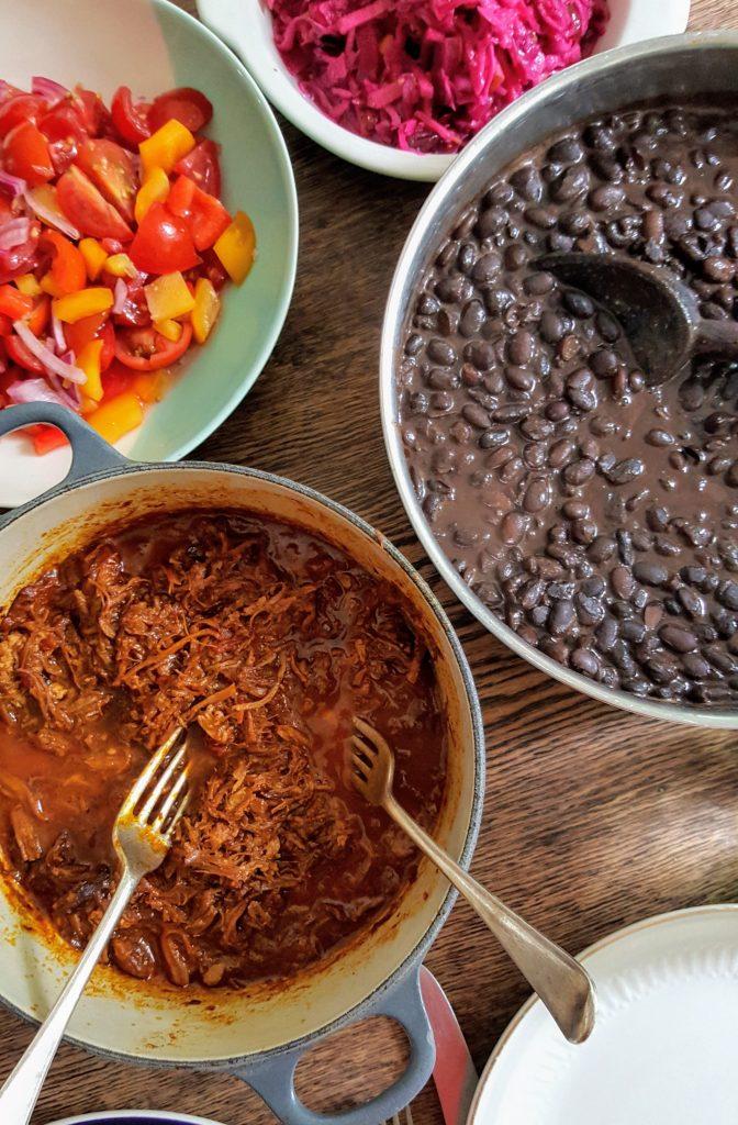 Bibliocook.com - Slow Cooker Black Beans and Cochinita Pibil