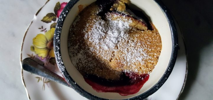 Bibliocook.com - Plum and Almond Puddings