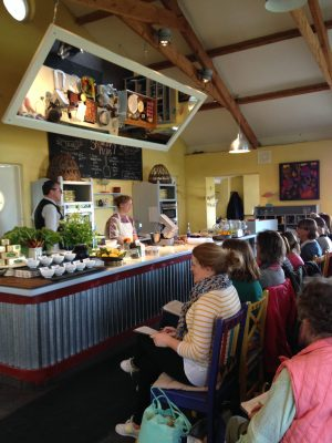 Bibliocook.com - Ballymaloe Cookery School demo at Litfest 2016 with Claire Ptak