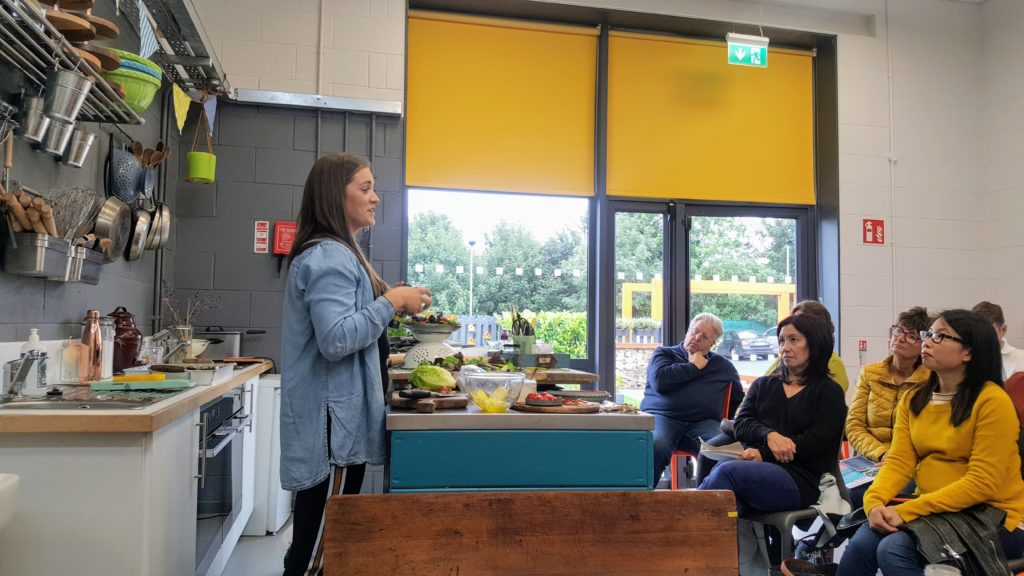 Sarah-Kim Watchorn at GROW HQ for Waterford Harvest Festival