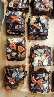 Spiced Chocolate Courgette Cake with Barleywine Chocolate Glaze