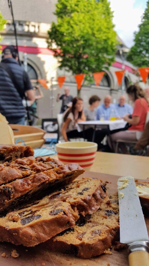 Bibliocook.com - Porter Cake for Blasta filming at Cork Butter Market