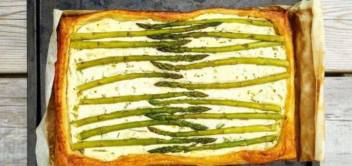 Bibliocook.com - Asparagus and ricotta tart