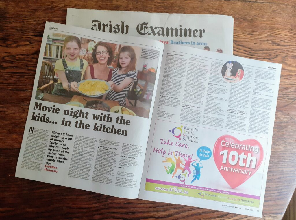 Bibliocook.com - Irish Examiner movie feature