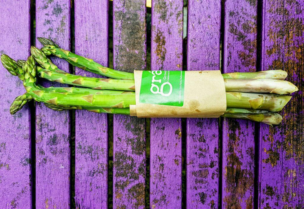 Bibliocook.com - Irish asparagus, Grá Farm